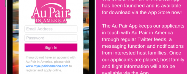 Au Pair disponible dans l'apps store!